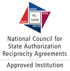 National Council for State Authorization Reciprocity Agreements: Approved Institution (logo)