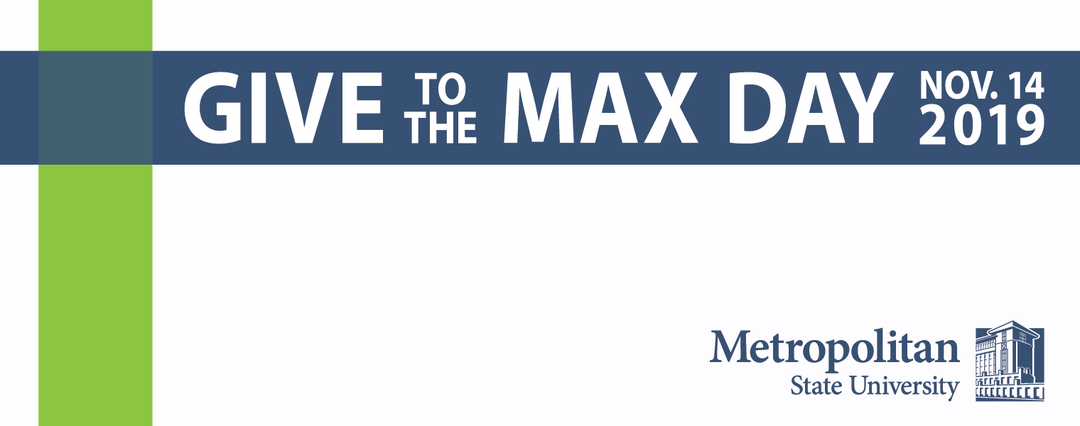graphic image of Give to the Max Day message, Nov. 14, 2019