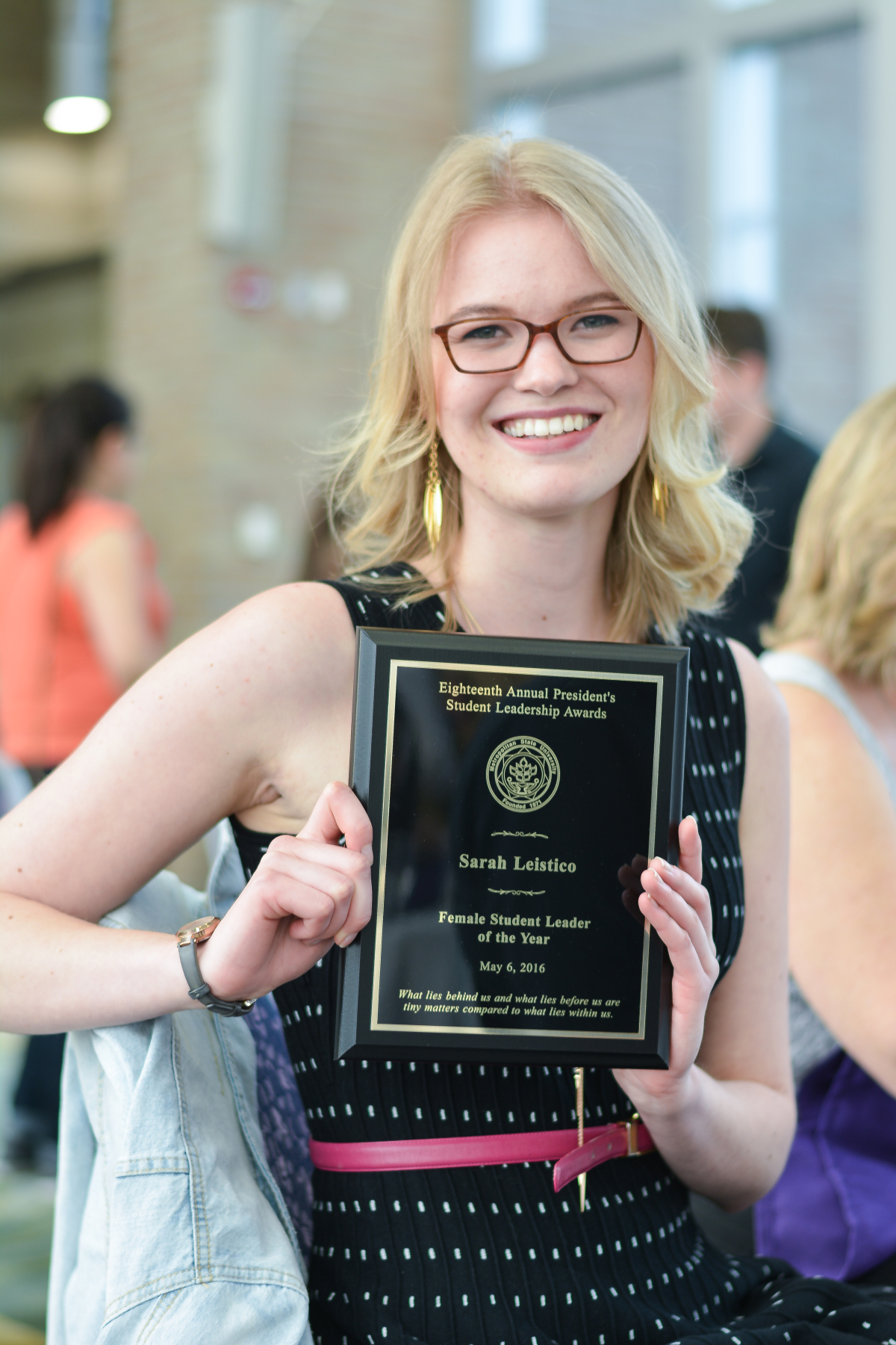 Sarah Leistico, Female Student Leader of the Year