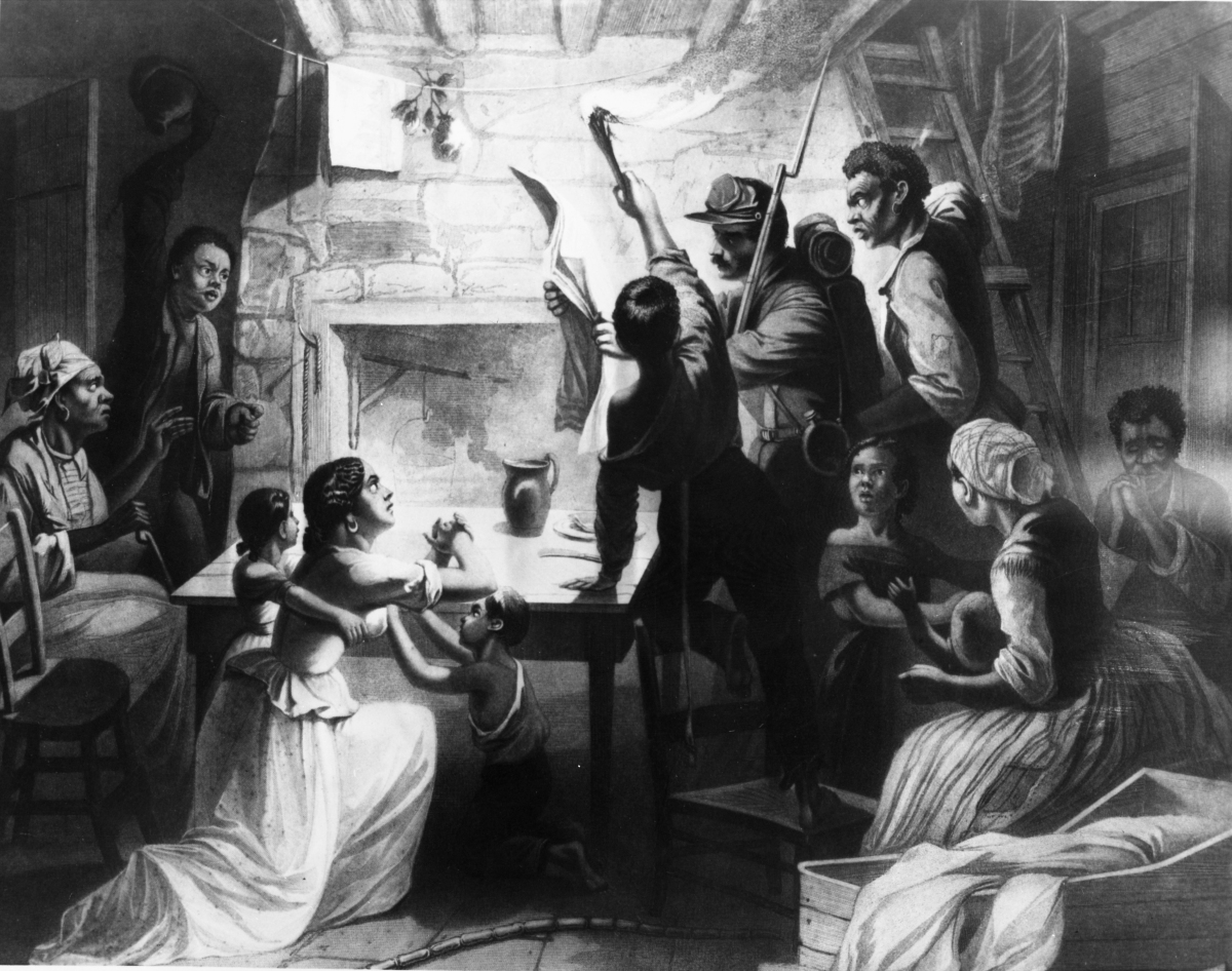 "Changing America: ""Reading the Emancipation Proclamation,"" J. W. Watts, 1864. Image courtesy of: U.S. National Archives and Records Administration"