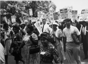 Changing America: Participants at the March on Washington. Image courtesy of U.S. National Archives and Records Administration.