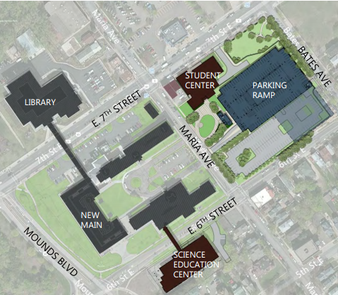 The new SEC is on the corner of East Sixth Street and Mounds Boulevard on Saint Paul Campus.