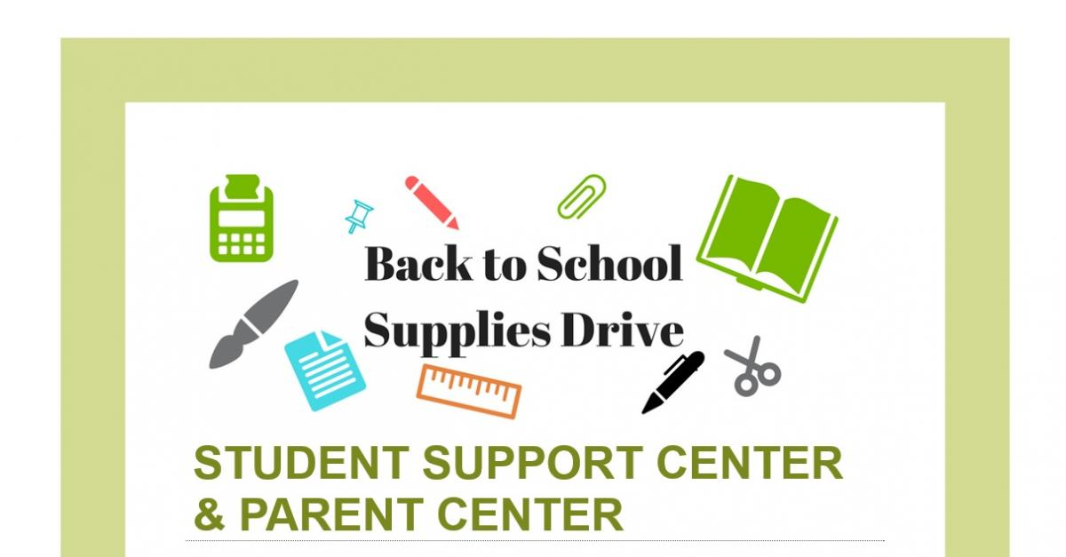 Back to School Supplies Drive flyer