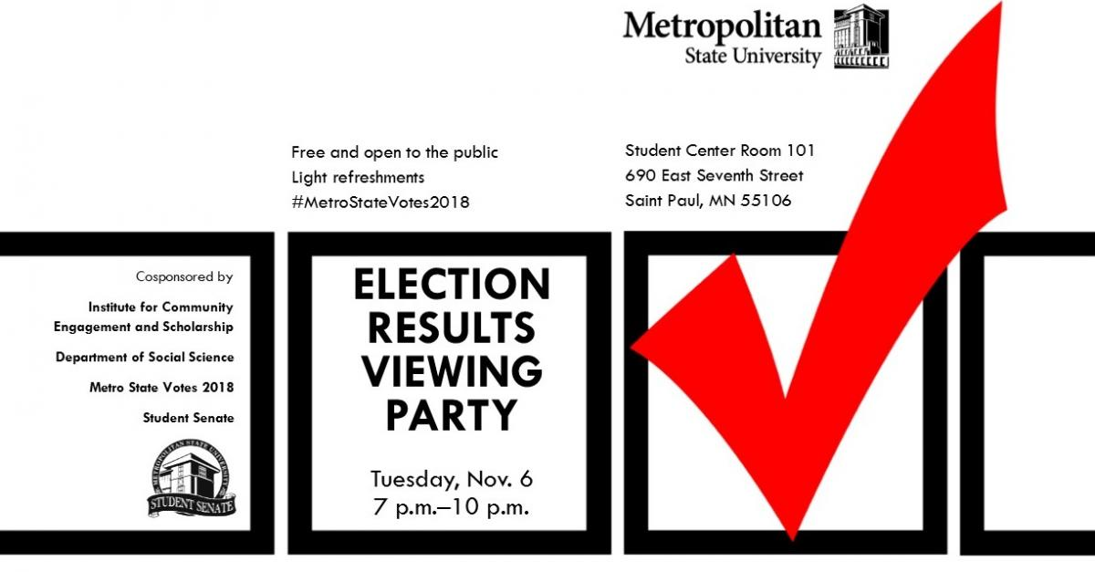 Flyer of Election Results Viewing Party details