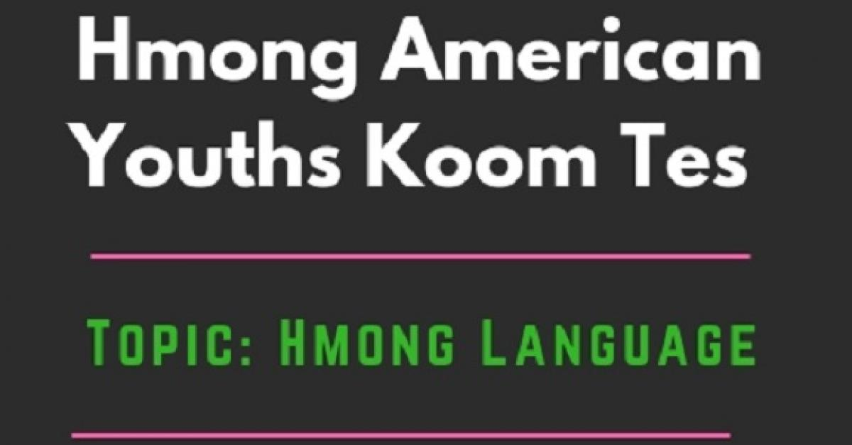 Hmong American Youths Koom Tes flyer