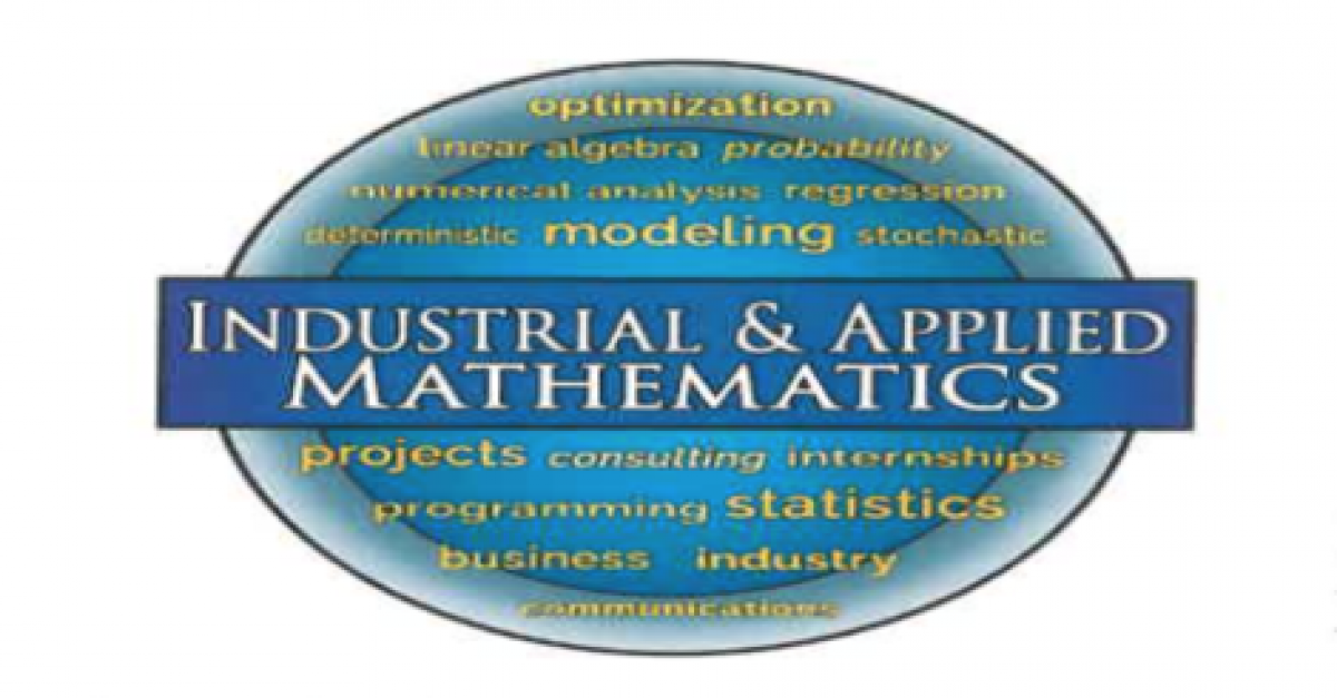 Blue logo of Industrial and Applied Mathematics major.