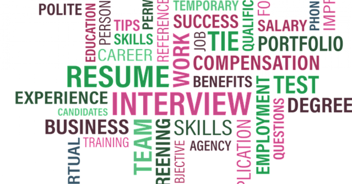 Image showing various words about careers and resumes
