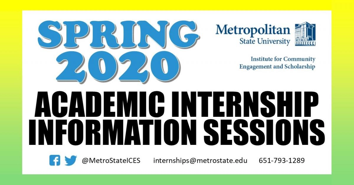 ACADEMIC INTERNSHIP INFORMATION SESSIONS