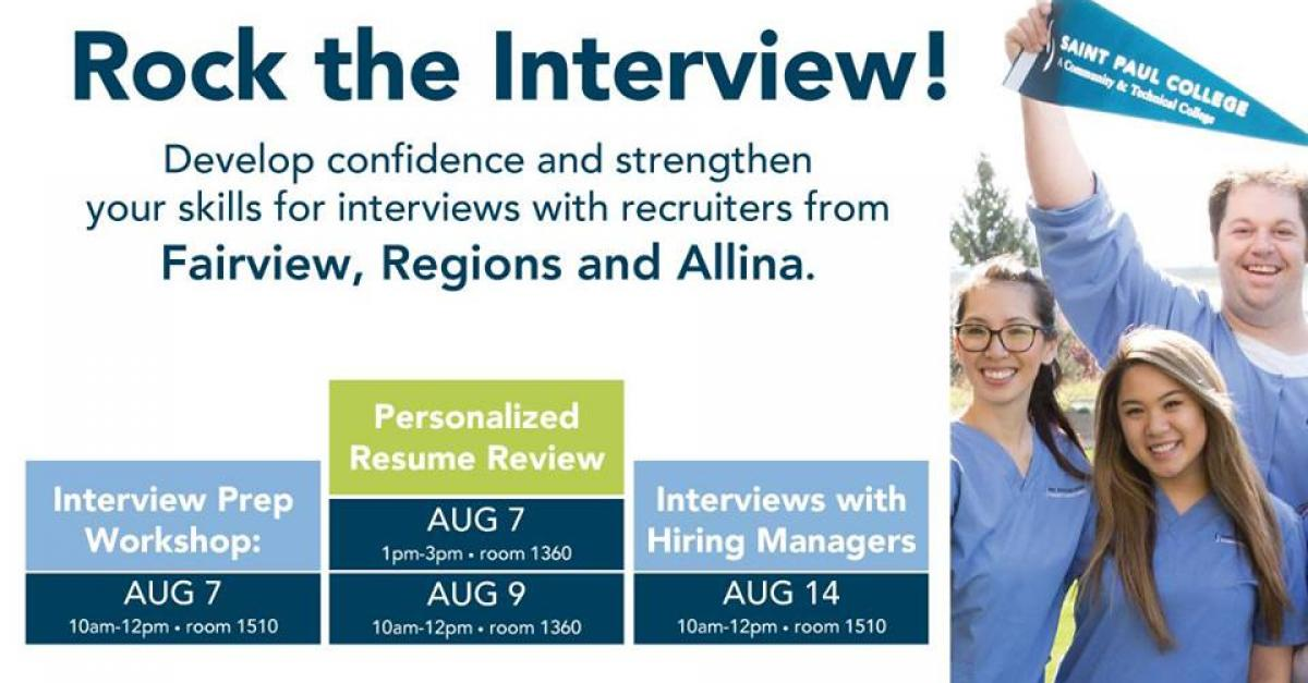 Surge Hiring Event: Rock the Interview! flyer