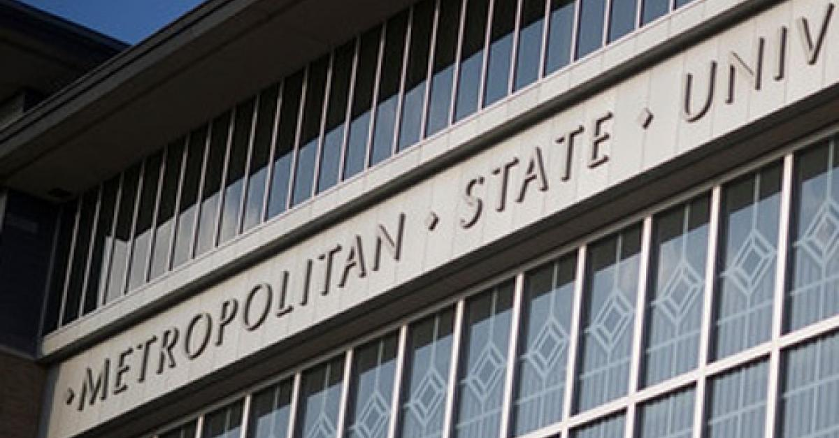 Metropolitan State University New Main sign