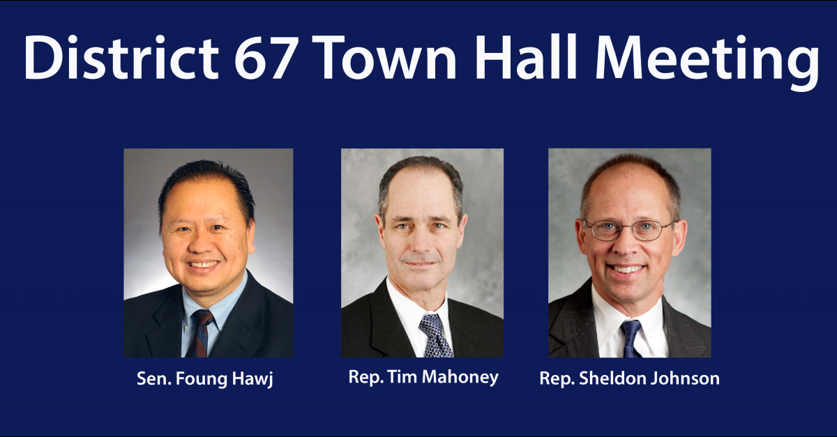 March 1: District 67 Legislative Town Hall