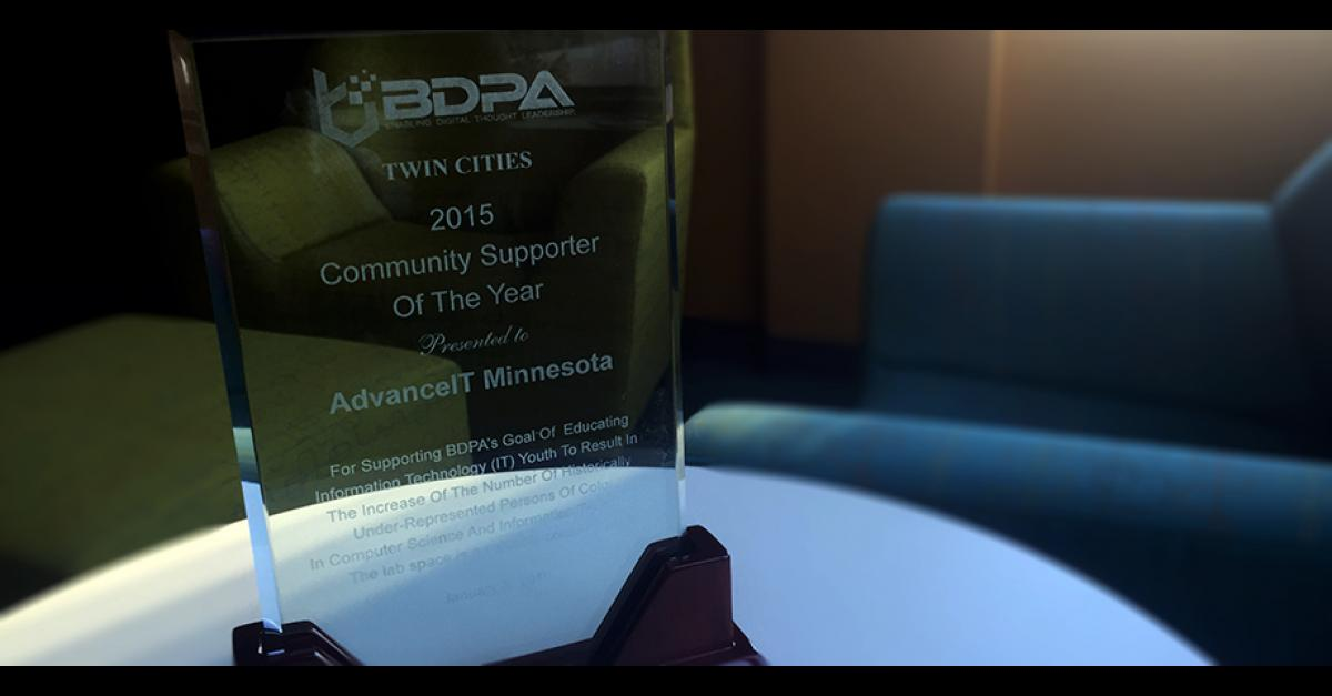 Metropolitan State and Advance IT awarded BDPA Community Supporter of the Year