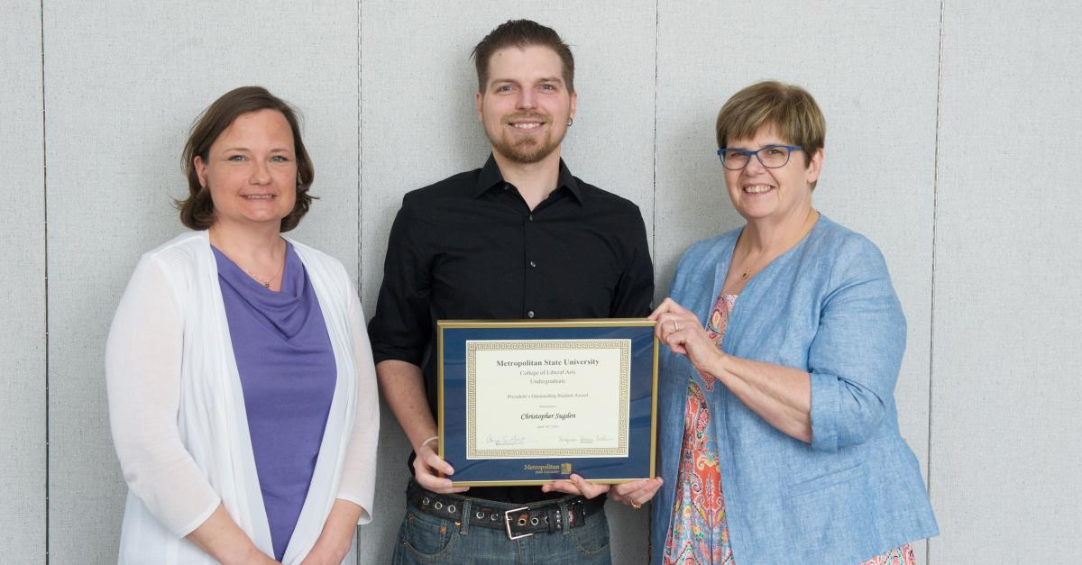 Christopher Sugden selected Metropolitan State University Outstanding Student for Spring 2018 graduating class