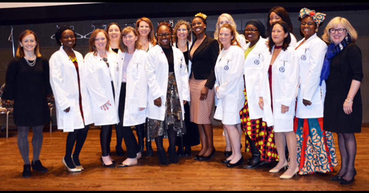 Department of Nursing's first White Coat Ceremony honors 14 doctoral students