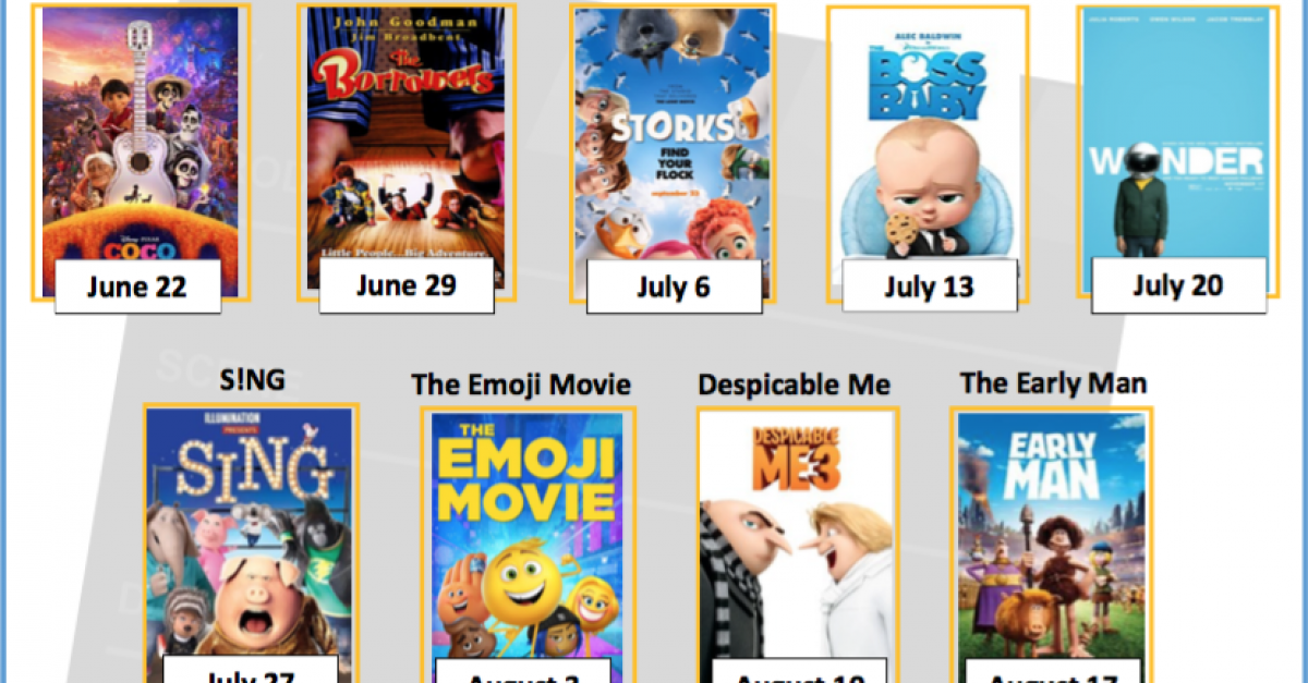 Summer Movie Fridays at the Library