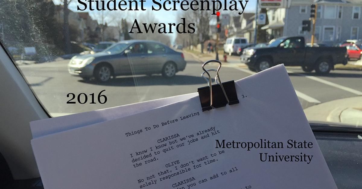 March 31: 2016 Student Screenplay Awards